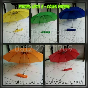 Payung Lipat 2 + Cover Payung